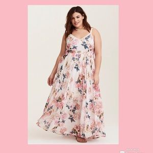 Torrid Runway Collection- Ivory Floral Maxi Dress